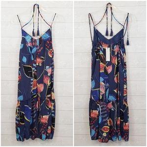 NWT Finn & Grace Tropical Leaf Midi Dress